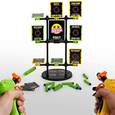 Bad Aim - Party Game - The Hilarious Truth or Dare Shootout - Perfect Game for Home. Ages 17+: Toys & Games