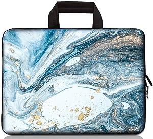 12 inch Neoprene Laptop Carrying Bag Chromebook Case Tablet Travel Cover with Handle Zipper Carrying Sleeve Case Bag Fits 11 11.6 12 12.1 12.5 inch Netbook / Laptop (11-12.5 inch, Vast Ocean)
