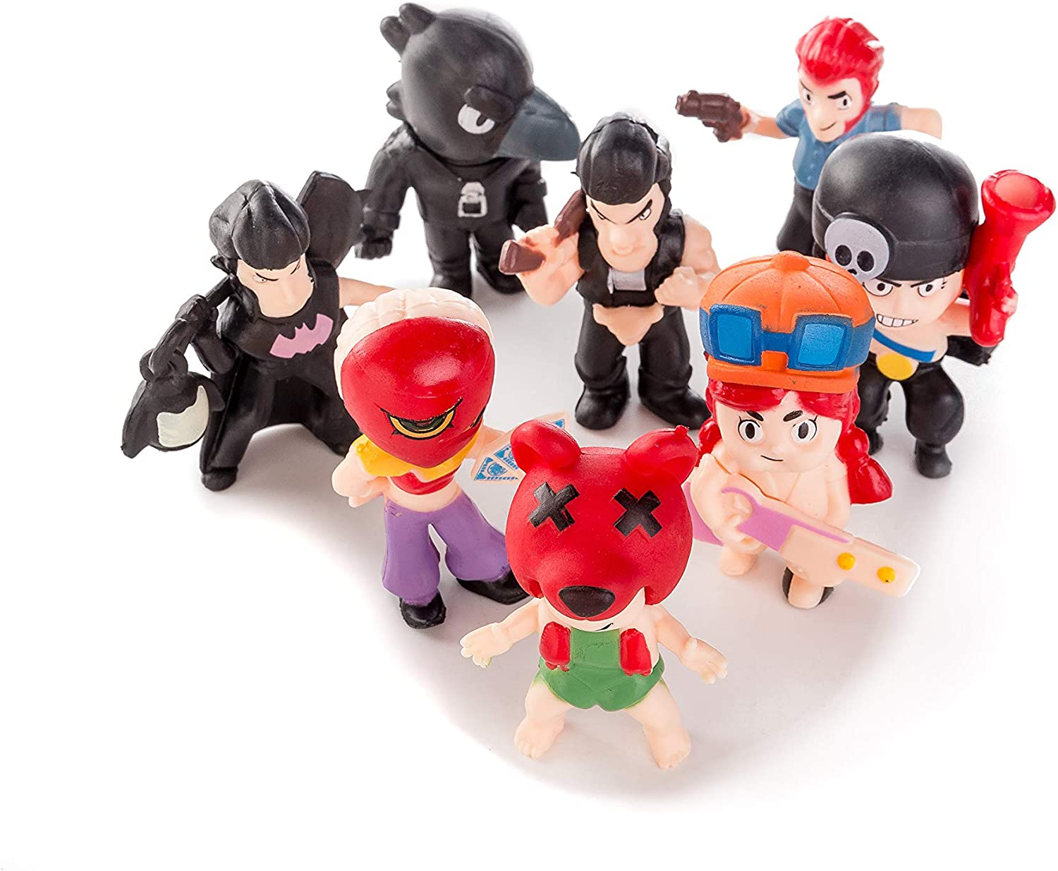 8 pcs brawl stars Characters Toys Mini Figure Collection Playset Cake Topper child playset toys Decoration