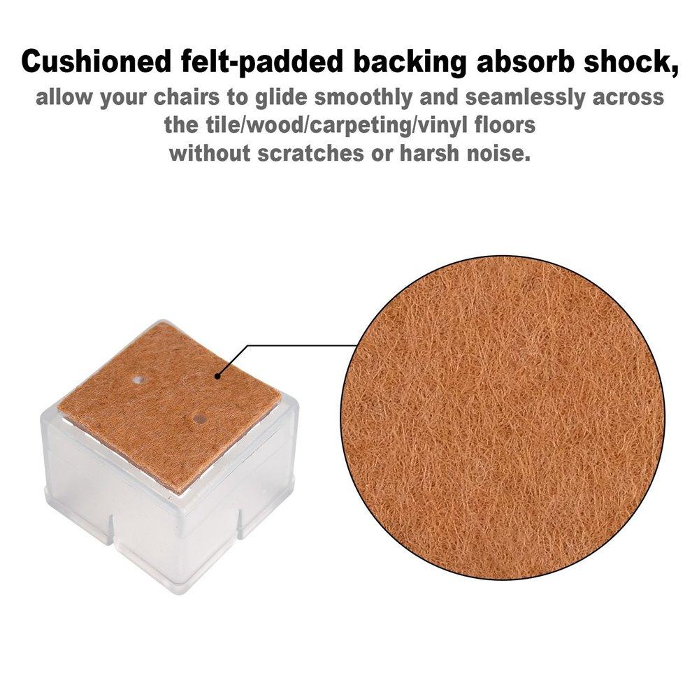 para muebles de silicona patas y patas de fieltro 32 unidades NYKKOLA Tapas para patas de silla transparentes