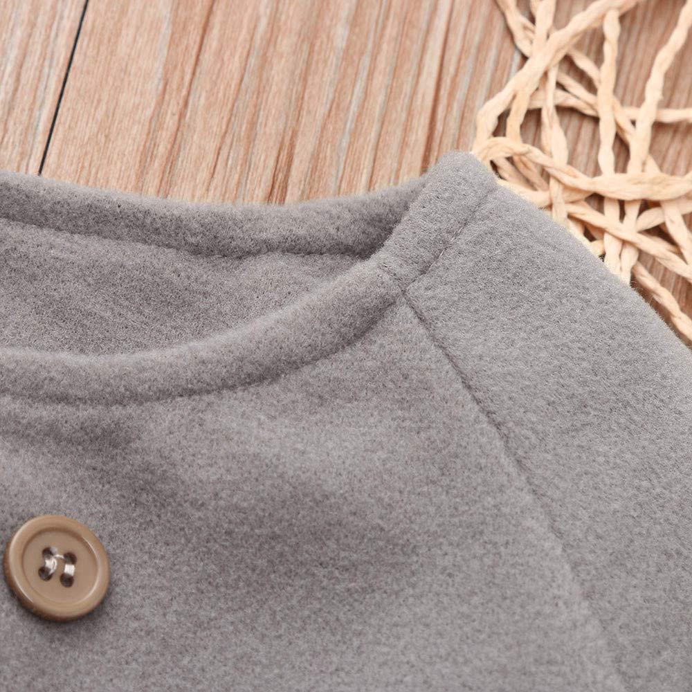 erthome Herbst Winter M/ädchen Kinder Baby Outwear Mantel Knopfjacke Warme Mantel Kleidung