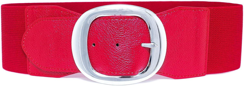 Taglia Unica altezza 75mm diversi colori disponibili MYB Cintura elastica per donna con fibbia in metallo