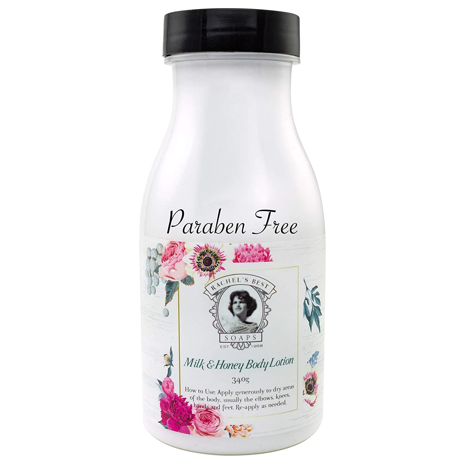 Goats Milk and Honey Body Lotion - Paraben Free Lotion - Replenish Moisture to Dry, Tired, Dehydrated Skin - 340 g