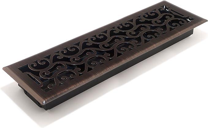 Brass Floor Register With Damper 14 X 14 Chrome HV-1015-1414-C