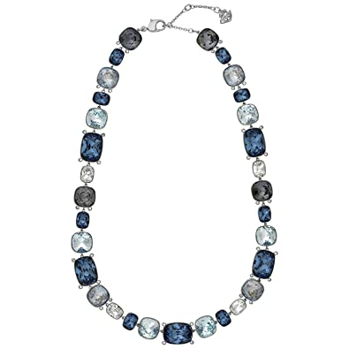 adaeb5f9fb44 Image Unavailable. Image not available for. Color  Swarovski Divinity  5168543 All Around Blue Gray Clear Crystal Necklace