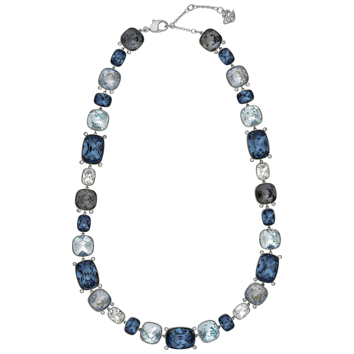 Swarovski Divinity 5168543 All Around Blue Gray Clear Crystal Necklace