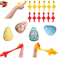 OLOPE 4//6//8 PCS Creative Ejection Chicken Toy Light Rubber Finger Prank Flying Toy,Fun Toy for Easter Anxiety Reducer Sensory Play Stocking Stuffers for Kids