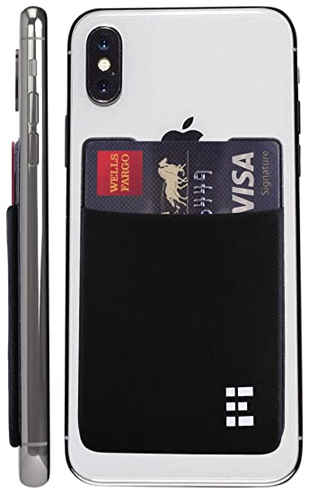 new product 69943 418de Zero Grid Cell Phone Credit Card Holder Stick On Wallet Case w/RFID  Blocking (Midnight)