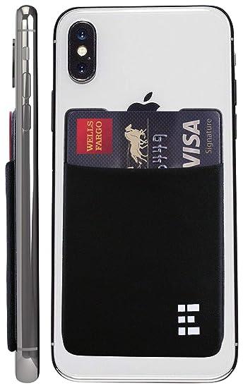 new product b6b2b 429b2 Zero Grid Cell Phone Credit Card Holder Stick On Wallet Case w/RFID  Blocking (Midnight)