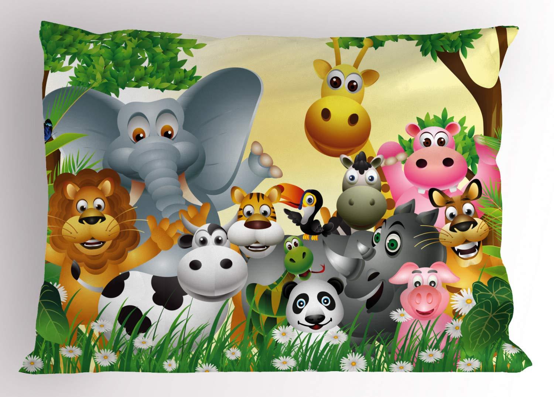 Amazon.com: Kids Decoración Pillow Sham by ambesonne, Cute ...