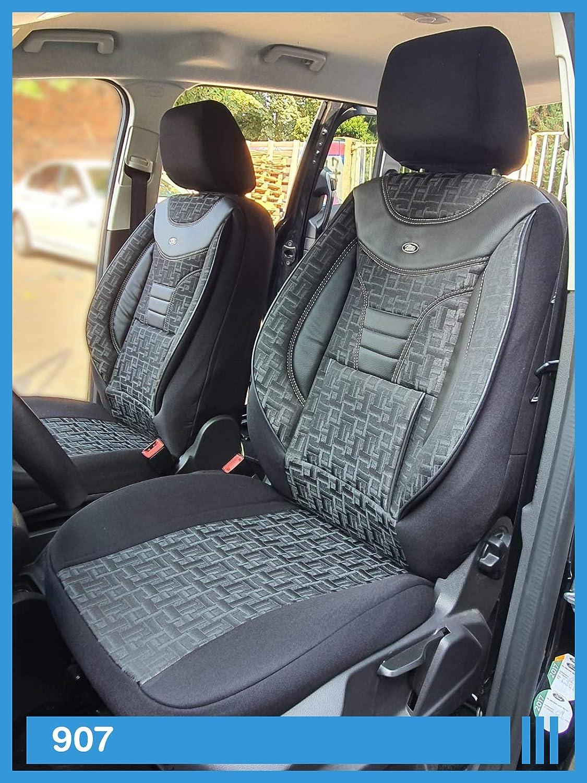 Maß Sitzbezüge Kompatibel Mit Vw T5 T6 Multivan Fahrer Beifahrer Ab Bj 2003 Farbnummer 907 Baby