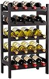 HOMECHO Bamboo Wine Rack, Floor Wine Storage Rack, 20 Bottles Holder, Freestanding Display Rack for Kitchen, Pantry…