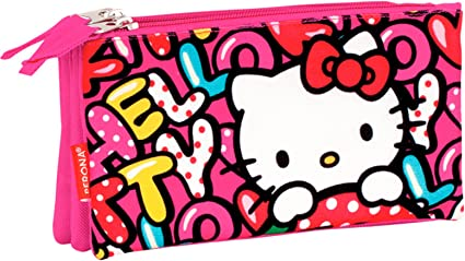Estuche Hello Kitty Triple: Amazon.es: Oficina y papelería