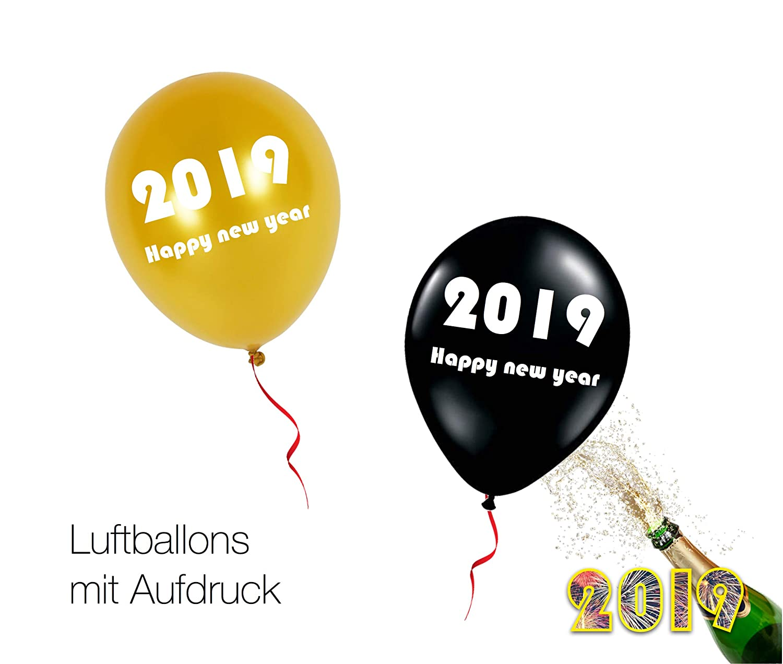 2018 TK Gruppe Timo Klingler Luftballon Ballon Heliumballon Deko Dekoration Heliumballon Ballon Happy New Year f/ür Helium Silvester 2017 Heliumballon New Year
