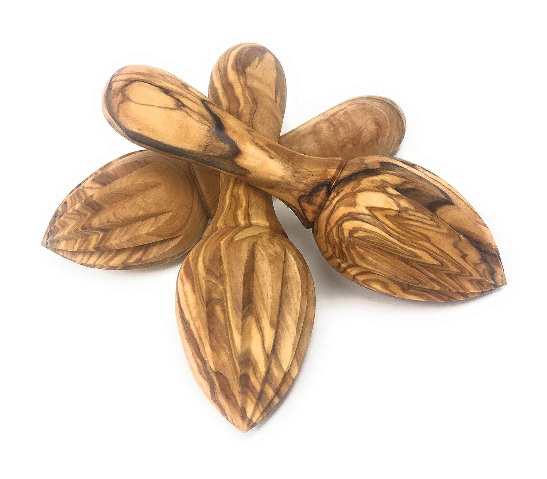 Amazon.com: Aramedia Exprimidor de madera de olivo, limón ...