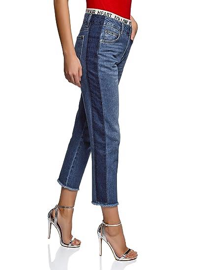 d3e3c687c8 oodji Ultra Femme Jean Mom à Taille Haute: Amazon.fr: Vêtements et ...
