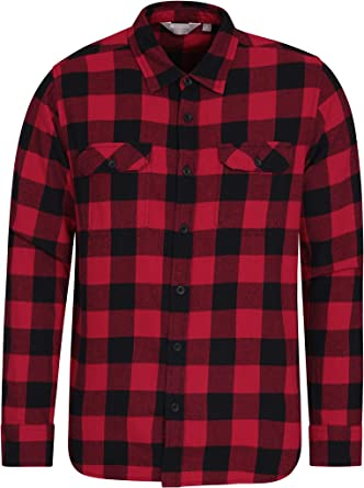 Mountain Warehouse Camisa de Franela de Manga Larga Trace para Hombre Carbón L: Amazon.es: Ropa y accesorios