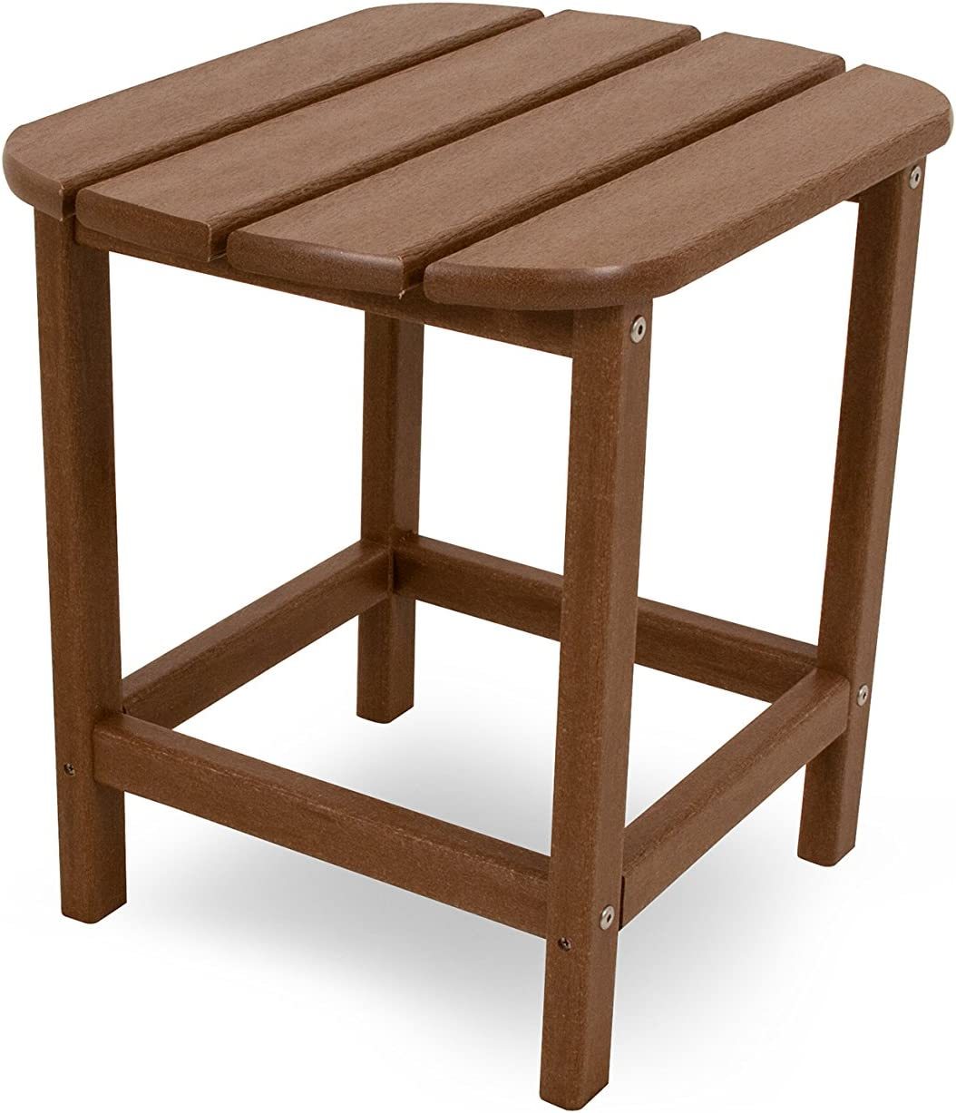"POLYWOOD SBT18TE South Beach 18"" Outdoor Side Table, Teak : Patio Side Tables : Garden & Outdoor"
