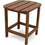 "POLYWOOD SBT18TE South Beach 18"" Outdoor Side Table, Teak"