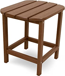 "product image for POLYWOOD SBT18TE South Beach 18"" Outdoor Side Table, Teak"