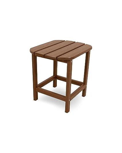Side Table Teak.Polywood Sbt18te South Beach 18 Outdoor Side Table Teak
