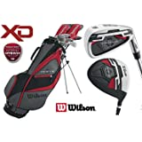 Wilson Mens LEFT HAND XD Profile Golf Set NEW FOR 2018 Steel Shafted Irons & Graphite Shafted Woods FREE Umbrella & Society Tee Pack worh £24.00