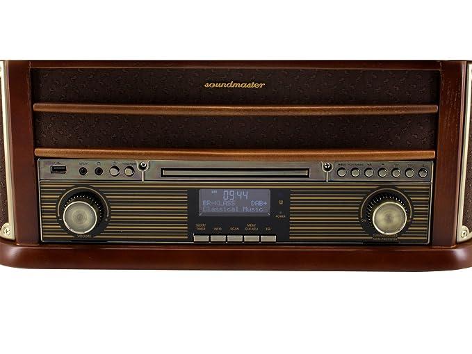 Soundmaster NR545DAB - Tocadiscos (3,5 mm, Madera, 500 x 340 ...