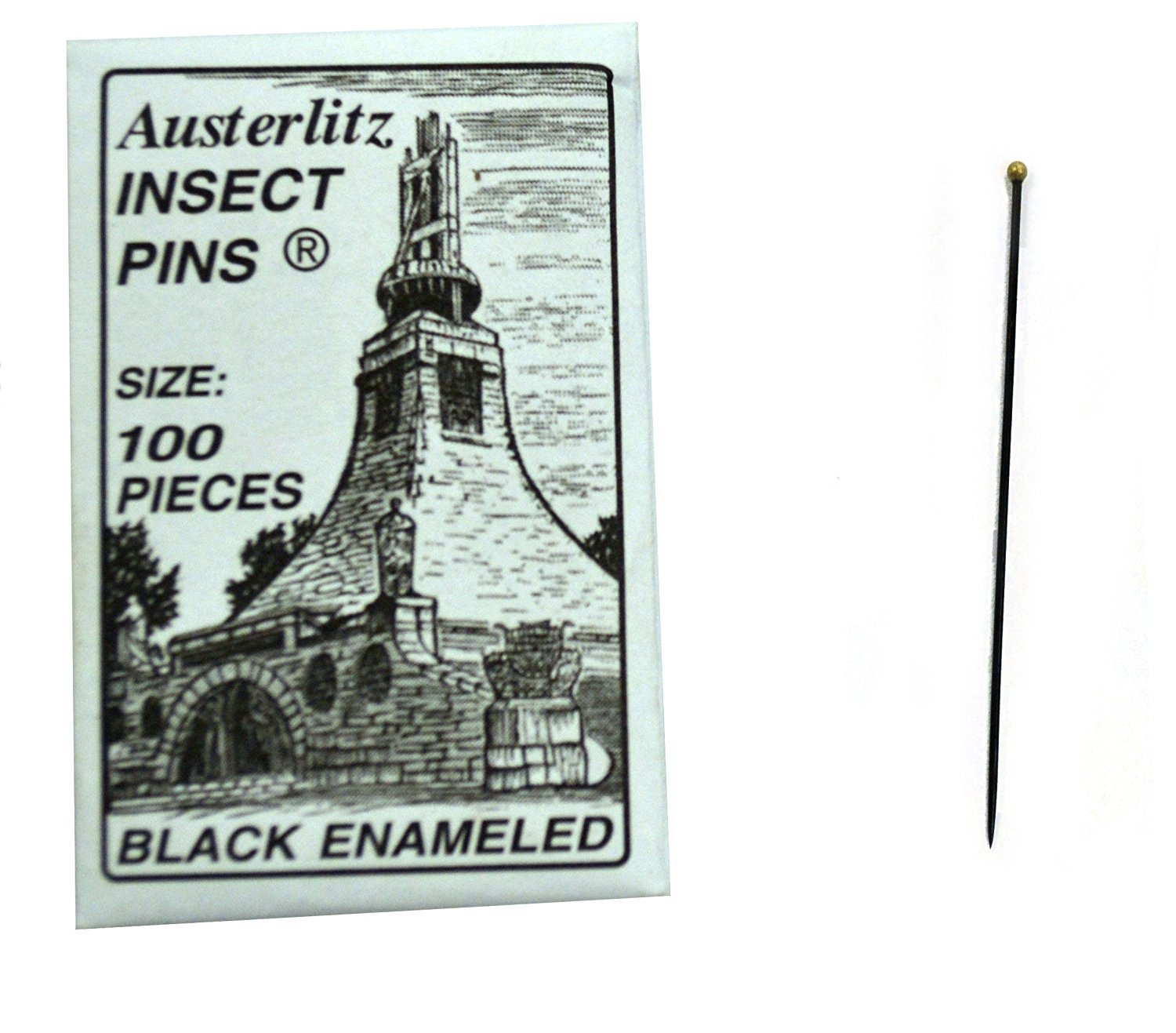 Premium Insect Entomology Dissection Pins, Size 2, Museum Grade, Pack of 100 Austerlitz DISPINS2