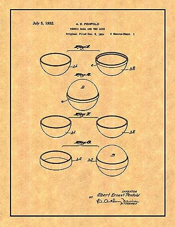 Amazon Com Tennis Ball Patent Print With Border 16 X 20 M11280