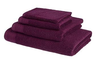 Juego de toallas de baño de lujo de algodón peinado egipcio de 600 g/m2: 3 toallas 50x100cm + 3 toallas para invitado 30x50cm - MORADO: Amazon.es: Hogar