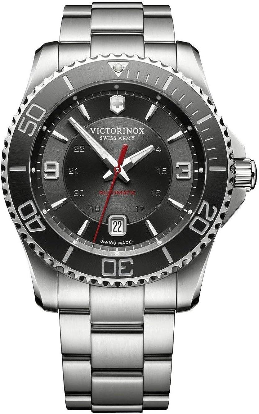 Victorinox Swiss Army Maverick Mechanical Analog Reloj Automático De Pulsera para Hombre Acero Inoxidable 241705