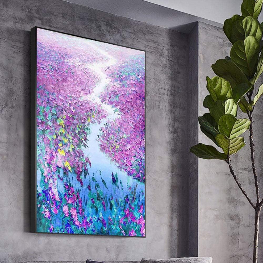 tzxdbh 100% Pintado a Mano la Pintura Abstracta Flores al óleo del Arte en Lona Wall Art Pared Adorno Imágenes Pintura para la Sala en Vivo Decoración-in a Partir de (85X115cm) 34X46inch