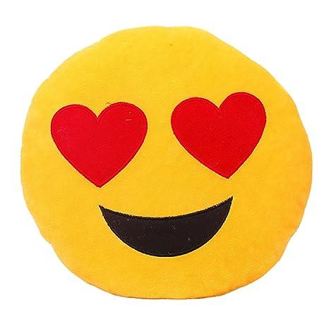 Aokbi 2017 Cute Emoji patrón diseño 32 cm * 32 cm Suave ...