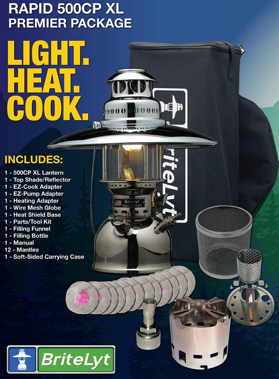 BriteLyt, Petromax USA 500CP/XL Pressure Lantern Premier Package.