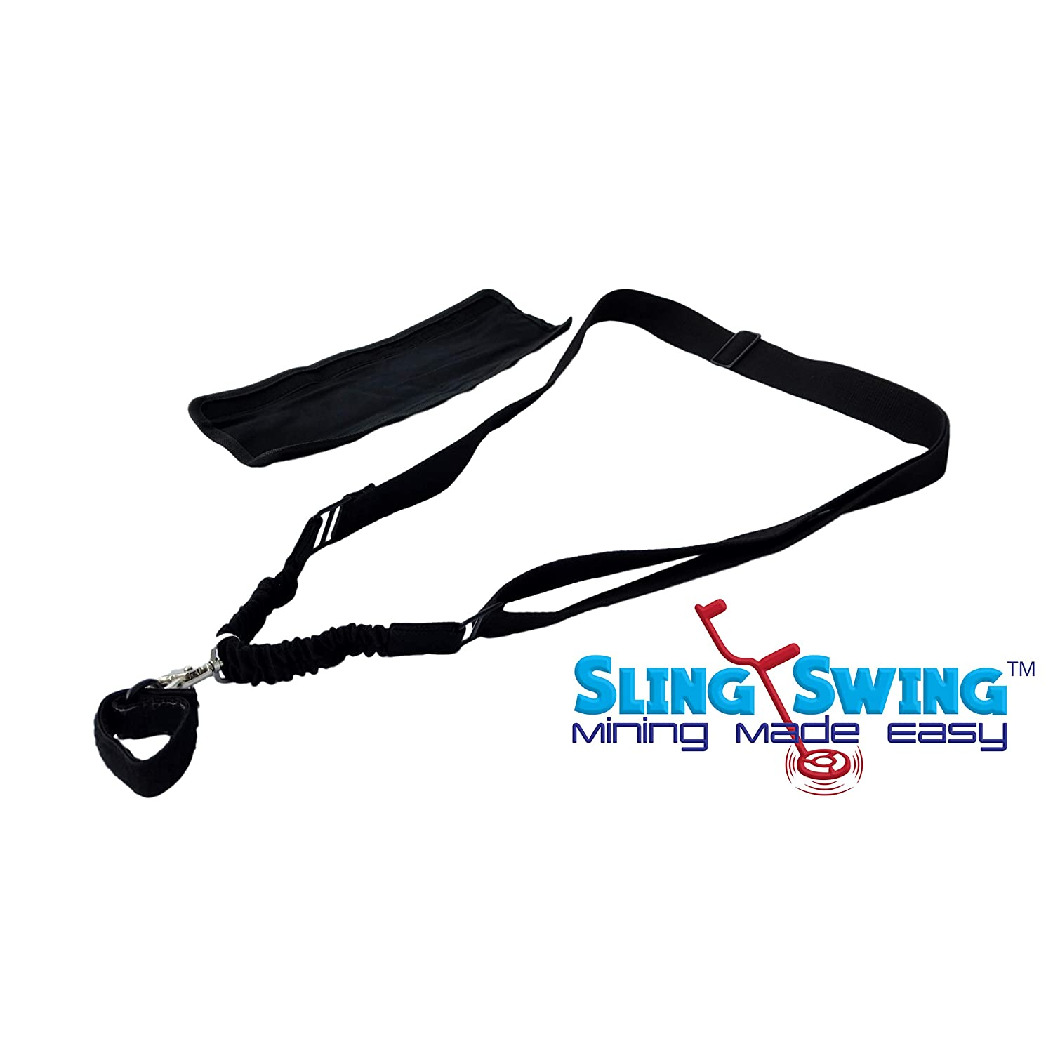 Sling Swing Metal Detector Harness ✪ Similar to Minelab Pro-Swing 45, Easy Swing, LimbSaver, Limb Saver, DetectorPro ✪ Works with White's Fishers Garrett Bounty Hunter Headphones GPX 5000 KingDetector Treasure State Prospecting SQ9336771