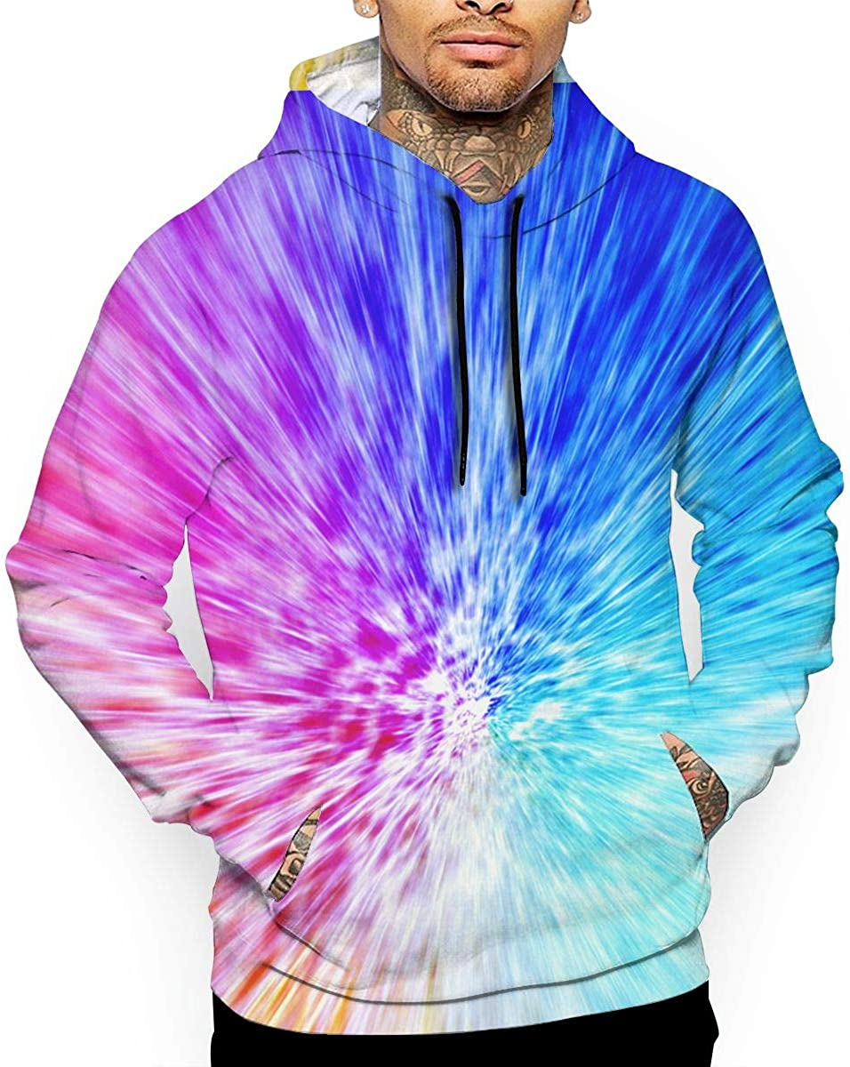 Cool Abstract T-Shirt Hooded with A Pocket Rope Hat Customization Fashion Novelty 3D Mens