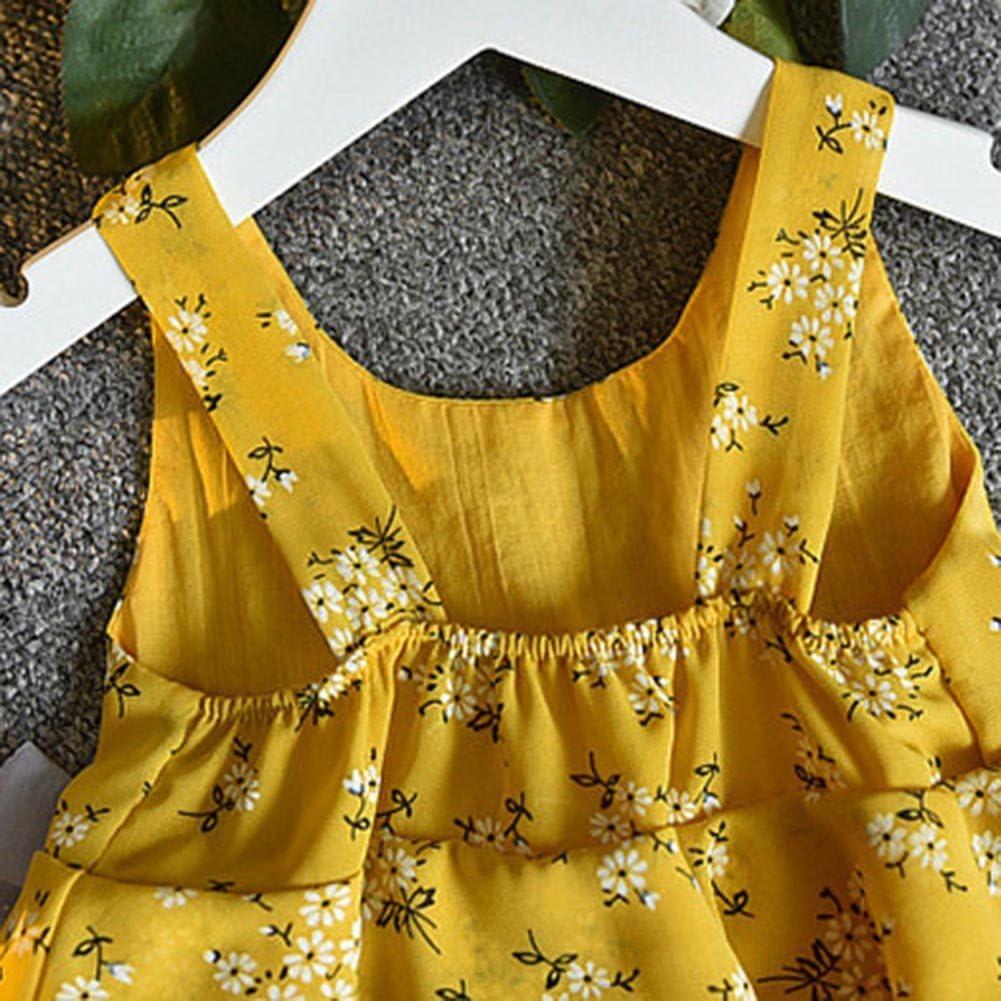 Hat Set Shorts Amyove Clothing Sets Baby Girls Sleeveless Pearl Bowknot Floral Printing Princess Tops