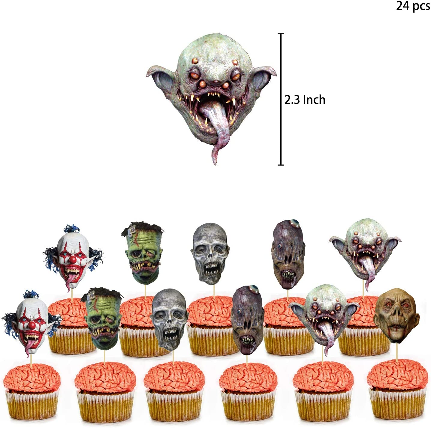 Halloween banners cake and cupcake toppers for Halloween horror party decorations balloon sets 2020 Halloween decoration set 43 pieces of Halloween party decorations