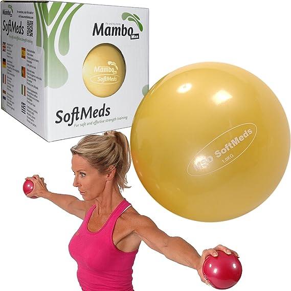 MSD softmed 1 kg balón medicinal 12 cm suave inflable bola pesas ...