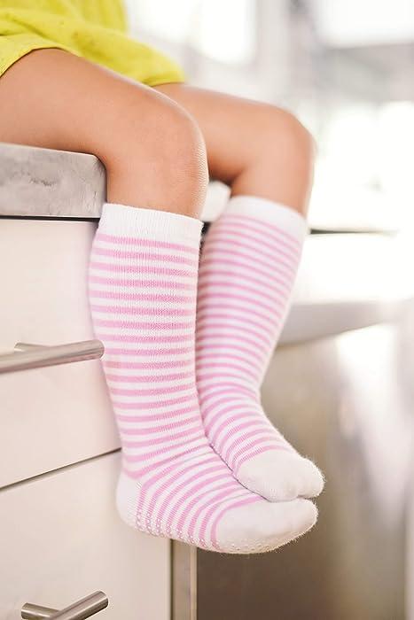 09576147c ... LA Active Knee High Grip Socks – 5 Pairs - Baby Toddler Non Slip Skid  ...