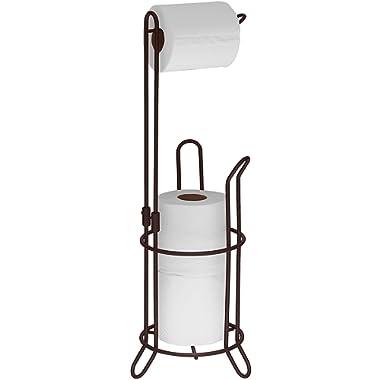 Simple Houseware Bathroom Toilet Tissue Paper Roll Storage Holder Stand, Bronze