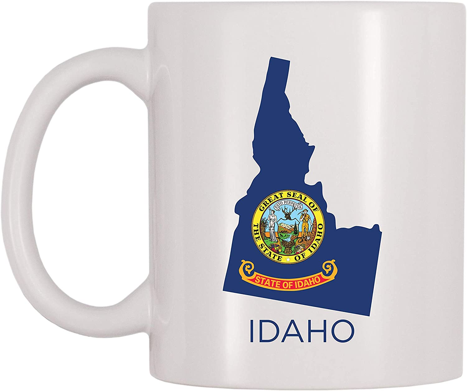 3dRose 169565/_6 Greetings From Idaho Sun Valley Boise With Scenes From The State Two Tone Mug 11 oz Blue