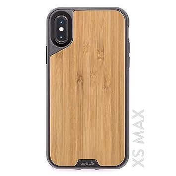 Mous Carcasa Protectora para iPhone XS MAX - Madera de Bambú Auténtica - Protector de Pantalla Incluido