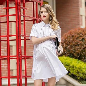 ZH Vestidos de las mujeres embarazadas, modelos de moda de verano de manga corta,