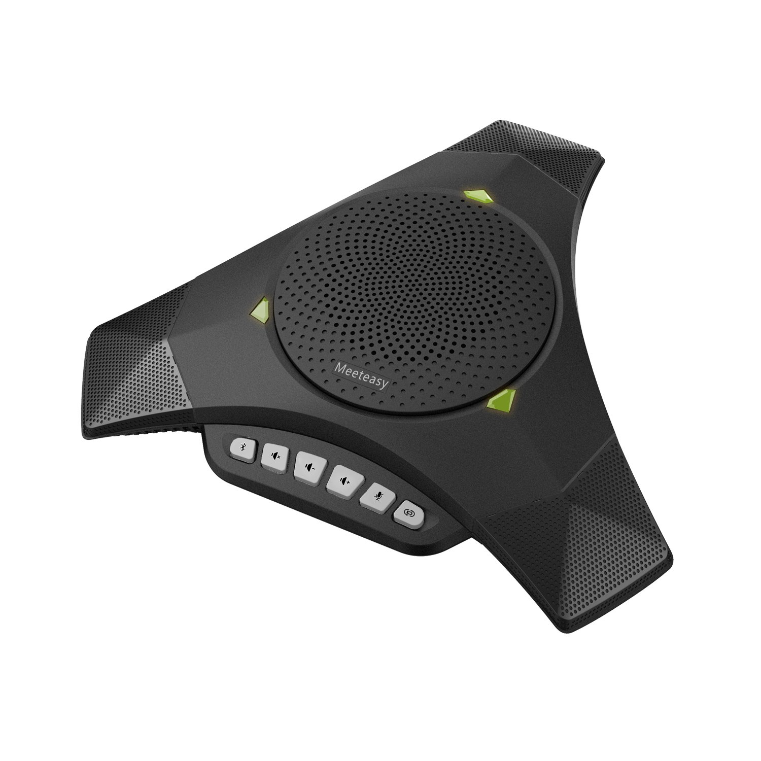 Meeteasy MVOICE 8000-B Expandable Bluetooth Speakerphone for Softphone and Mobile Phone Conference Call (Expansion mic NOT included)