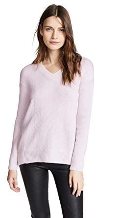 a7f1b1bf40b TSE Cashmere Women s Cashmere Cocoon Back V Neck Sweater at Amazon ...