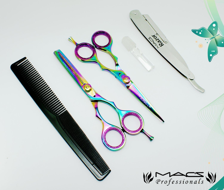 Amazon Macs Professional Titanium Barber Scissor Razors Edge