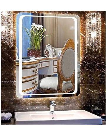 LUVODI Miroir Mural Lumineux 60 X 80cm Salle De Bain Avec Interrupteur Tactile LED Sur