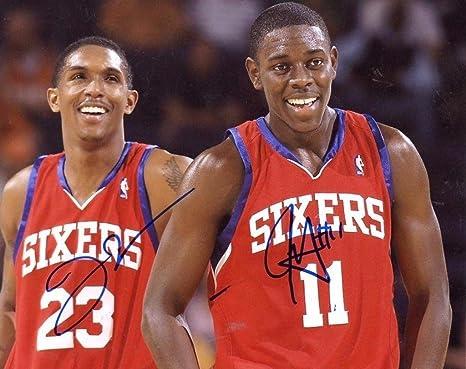 online retailer 4c87e 18b15 Jrue Holiday/Lou Williams Philadelphia 76ers Signed ...
