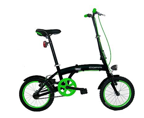 Bicicletta Folding Pieghevole.Coppi Folding Pieghevole Unisex Adulto Nero Verde S